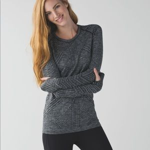 Lululemon Restless Pullover Long Sleeve Dark Grey